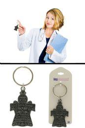 96 Units of God Bless Nurses Inspirational Key Chain - Key Chains