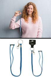 96 Units of Royal Blue Elastic Lanyard Key Chain - Key Chains