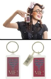 96 Units of Acrylic Keychain With Double Sided Card Inside Which Says The Most Important Thing In Life Is Me - Key Chains