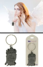96 Units of Angel Holding Heart Inspirational Key Chainife - Key Chains