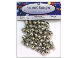 90 Units of 65pc Silver Jingle Bell Value Pack - Christmas Ornament