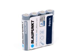 60 Units of Blaupunkt Alkaline 4 pack AAA Batteries in Shrink Wrap - Electronics
