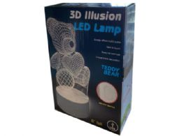 12 Units of 3D Illusion Lamp in 2 Assorted Styles - Electronics
