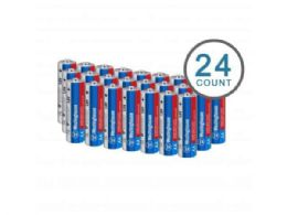 18 Units of Westinghouse Super Heavy Duty 24 pack AA Batteries in Plastic Case - Electronics
