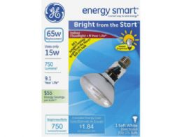 54 Units of GE Energy Smart 65W Replacement CFL Soft White R30 Indoor Flood Light Bulb - Lightbulbs