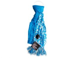 60 Units of tuqoise and white scarf - Womens Fashion Scarves