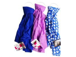 90 Units of 1 Count Scarf in Blue and Purple Assorted Colors - Womens Fashion Scarves
