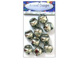 90 Units of 10pc Silver Jingle Bell Value Pack - Christmas Ornament