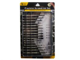 36 Units of 16 Piece Precision Screwdriver Set in Hard Case - Screwdrivers and Sets