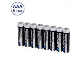 36 Units of Blaupunkt Zinc Carbon AAA 8 pack Batteries in Shrink Wrap - Electronics