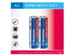 72 Units of Westinghouse Super Heavy Duty 2 pack AA Batteries - Electronics