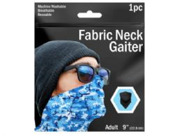 120 Units of 9 in  Camouflage Printed Neck Gaiter 3 Asst Colors - Sporting and Outdoors