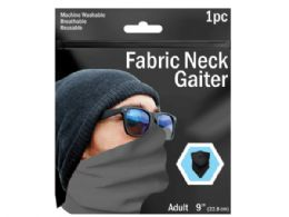120 Units of 9 in  Assorted Solid Color Neck Gaiter - Sporting and Outdoors