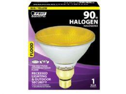 36 Units of Feit PAR38 90W Yellow Bug Light Halogen Reflector Light Bulb - Lightbulbs