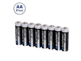 36 Units of Blaupunkt Zinc Carbon AA 8 pack Batteries in Shrink Wrap - Electronics