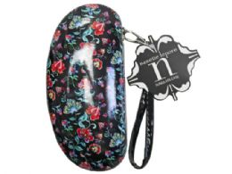 36 Units of nanette lepore sunglasses case in red  and  black floral print - Eyeglass & Sunglass Cases