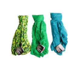 90 Units of 1 Count Scarf in Green and Blue Assorted Colors - Womens Fashion Scarves