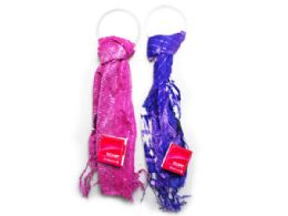 60 Units of Pink Squin Scarf and Purple Tye Dye Scarf - Womens Fashion Scarves