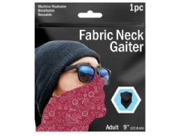120 Units of 9 in  Paisley Printed Neck Gaiter 3 Asst Colors - Sporting and Outdoors