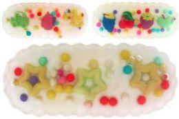 96 Units of Children's Assorted Hair Barrette - Hair Scrunchies