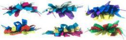96 Units of Children's Multi Colored Metallic Shoe Lace Hair Barrettte - Hair Scrunchies