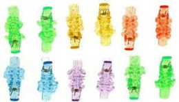 96 Units of Children's Assorted Glitter Style Hair Clip With Assorted Animals - Hair Scrunchies