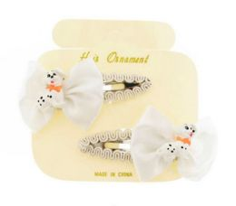 96 Units of Children's Silver Metal Hair Clip With Bows - Hair Scrunchies