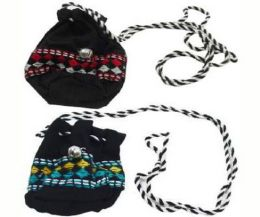 96 Units of Childrens Necklace With Embroidered Bag - Necklace