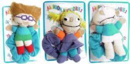 96 Units of Childrens Assorted Style Plush Stuffed Children Scrunchies - Hair Scrunchies