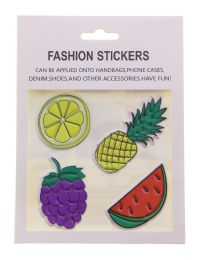 96 Units of Fashion Puff Stickers Lips Car Star Hand Mushroom And Girl - Tattoos and Stickers
