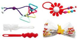 96 Units of Hair Accessory Assortment - Hair Scrunchies