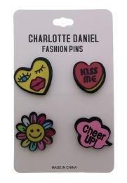 96 Units of Happy Pin Set - Hat Pins & Jacket Pins