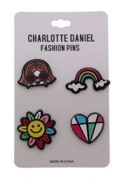 96 Units of Rainbow Colors Pin Set - Hat Pins & Jacket Pins