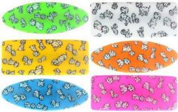 96 Units of Childrens Assorted Color Acrylic Hair Barrette In Dalmatian Print - Hair Scrunchies