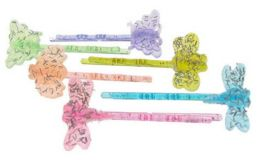 96 Units of Assorted Color Acrylic Glitter Bobby Pin. - Hair Scrunchies