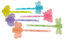 96 Units of Assorted Color Acrylic Flocked Bobby Pin - Hair Scrunchies