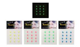96 Units of Body Jewelry Glow In The Dark Tear Drop - Body Jewelry
