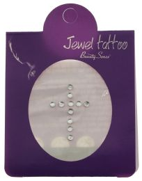 96 Units of Crystal Tattoo In The Shape Of A Cross - Tattoos and Stickers