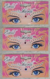 96 Units of Assorted Color Eye Lid Jewels - Body Jewelry