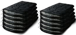10 Units of Yacht & Smith Temperature Rated 72x30 Sleeping Bag Solid Black - Sleep Gear