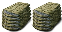 10 Units of Yacht & Smith Temperature Rated 72x30 Sleeping Bag Solid Olive Green - Sleep Gear