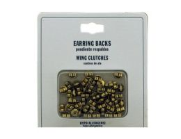 96 Units of Gold Tone Hypo Allergenic Wing Clutch Earring Backs - Jewelry Cords