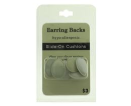 96 Units of Hypo Allergenic Slide On Cushion Earring Backs - Jewelry Cords