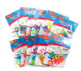 192 Units of Fantasy Shaped Ring Silly Bands - Rings