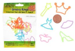 192 Units of Princess Style Ring Silly Bands - Rings