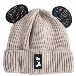 36 Units of Kids Hat With Fur In Assorted Color - Junior / Kids Winter Hats