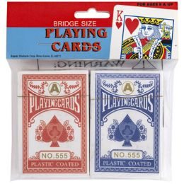 72 Units of Playing Cards 2pk Coated Pbh Bridge Size - Card Games
