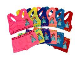 36 Units of Girl's Seamless Racer Back Bra + Boxer Set (Ariel) - Girls Underwear and Pajamas