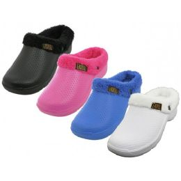 36 Units of Women's Cotton Terry Lining Insole Soft Clogs - Women's Slippers