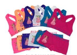 36 Units of Girl's Seamless Racer Back Bra + Boxer Set (Princess) - Girls Underwear and Pajamas